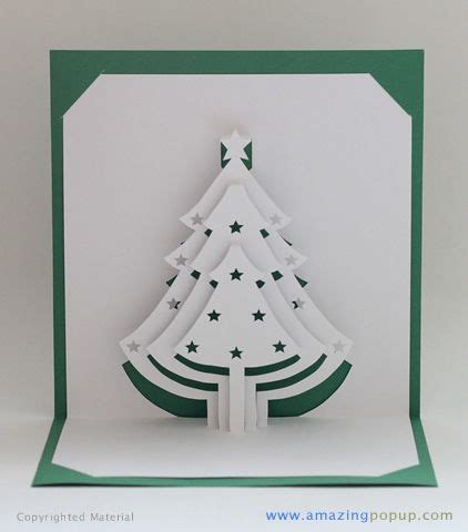1000 Ideas About 3d Cards On Pinterest Little Christmas Pencil Cases And Pop Up 3d Tree Card Template