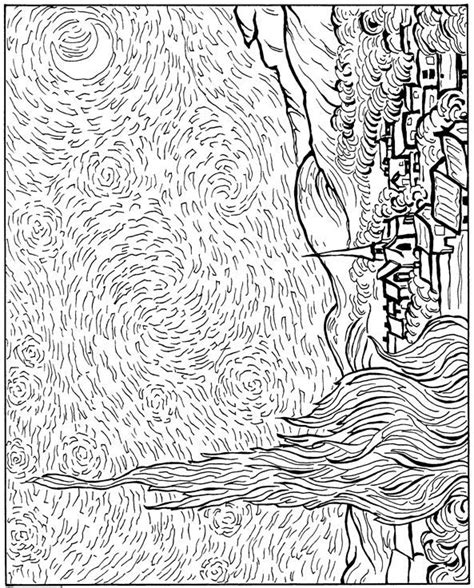 Starry Coloring Page Gogh 59 Best Images About Van Gogh Lesson Plans On Pinterest by Starry Coloring Page Gogh