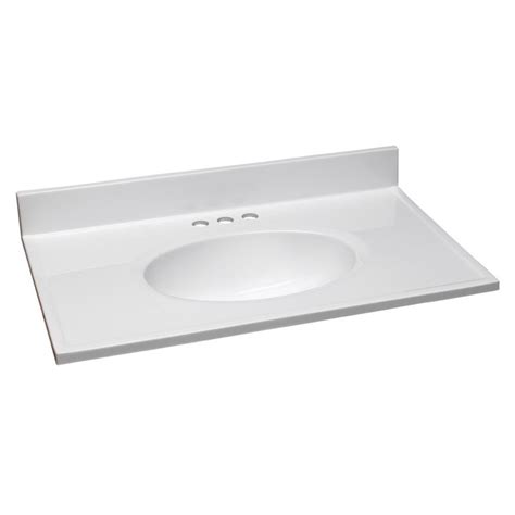 design house white vanity design house 31 in cultured marble vanity top in solid