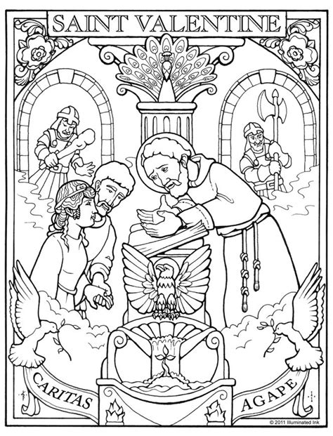 Coloring Page St Valentine | 1000 images about feast of saint valentine on pinterest