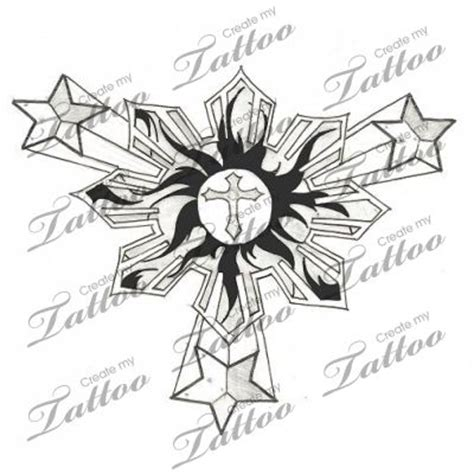 three stars and a sun tattoo designs the world s catalog of ideas