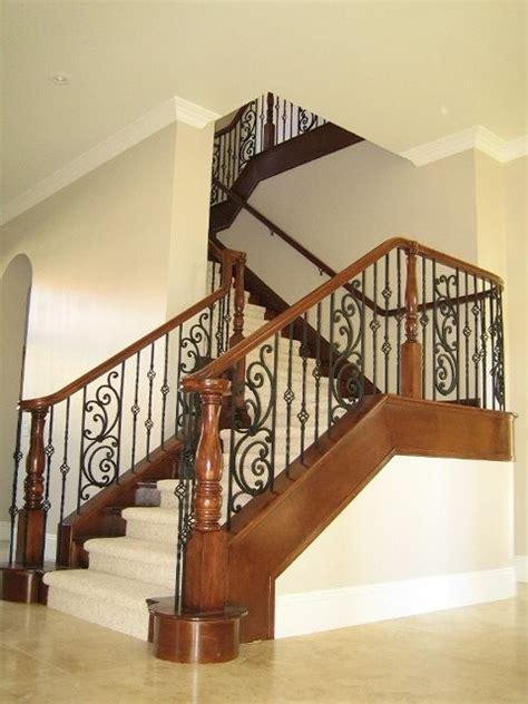 Home Garden Design Inc by Wood And Iron Railings Traditional Staircase Las