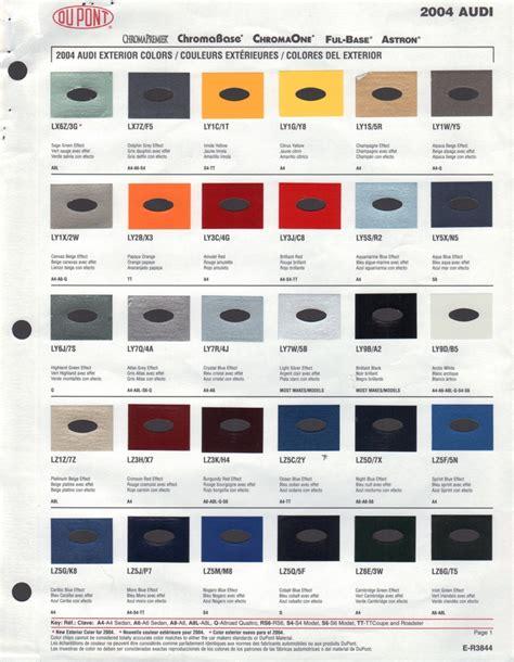 paint chips 2004 audi a4
