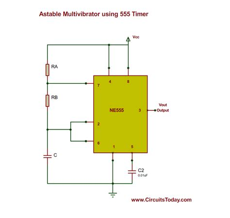 circuit diagram 555 timer astable repair wiring scheme