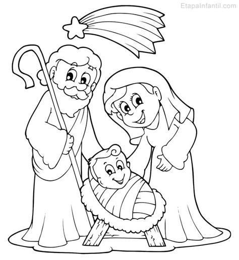 imagenes de jesus jose y maria para colorear dibujo de navidad para colorear de nacimiento en bel 233 n
