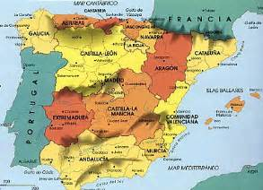 Regions Of Spain Map by Pics Photos Spain Map Regions