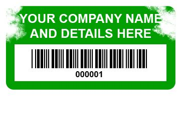 Limited Edition Label Barcode 50 X 20 Mm 2 Line 1 Inch Isi security id asset labels white ter evident vinyl 38mm x 20mm labels from customark limited