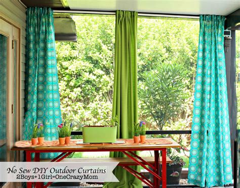 no sew outdoor curtains make your no sew diy outdoor curtains on a budget 2