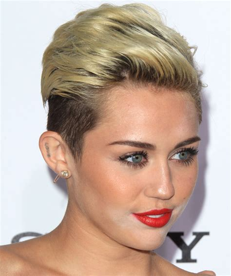 how to style miley cyrus hairstyle miley cyrus short straight casual hairstyle