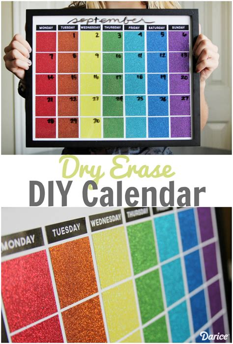 how to make a erase calendar from a picture frame diy calendar erase calendar tutorial darice