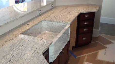 custom   maine snow valley white granite countertop