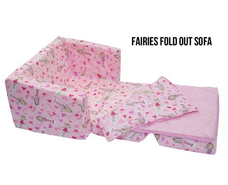 kids flip out sofa bed with sleeping bag children s foam chair grabone store