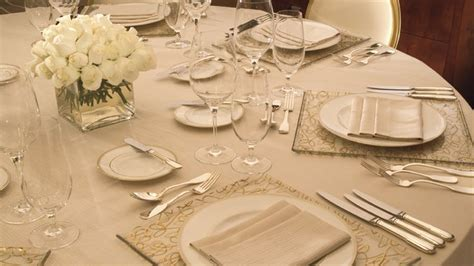 Fine Dining Table Setting | fine dining table setting ritz dining tables flowers