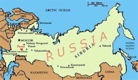 russia penza map penza map and penza satellite image