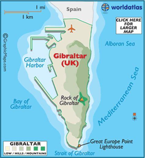 strait of gibraltar map map of gibraltar world atlas