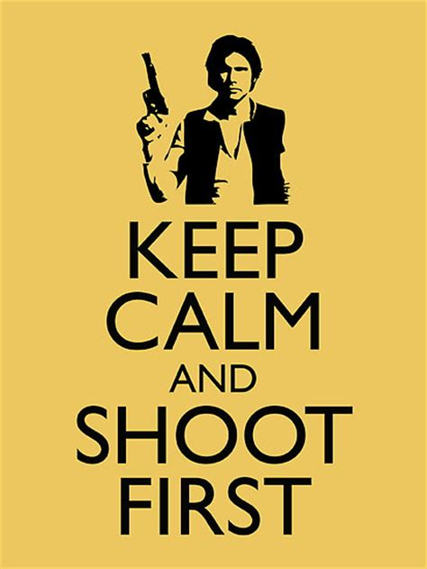 Han Shot First Meme - fashion and action han vs greedo the never ending
