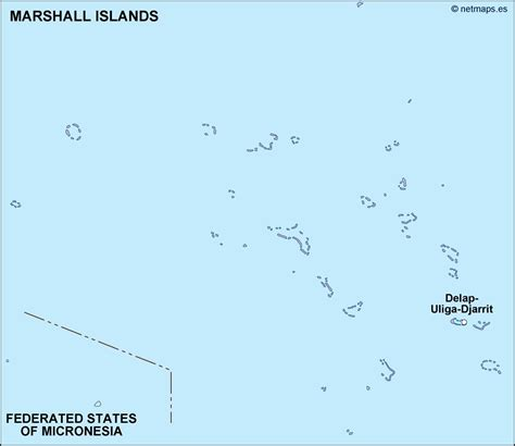marshall islands map marshallinseln karte st 228 dte