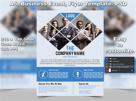 template flyer business business event flyer template a5 psd by studio81gfx on