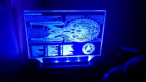 led acrylic edge lighting trek enterprise fan made desk l led acrylic edge