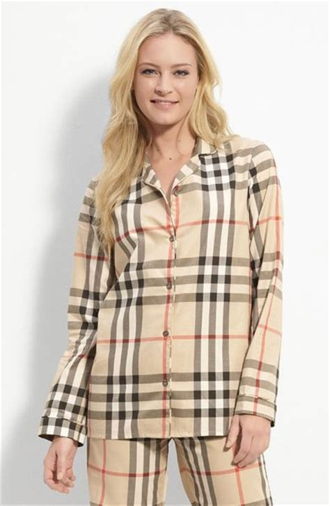 Burberry Pajamas 2 Set burberry check print pajama top in brown new classic