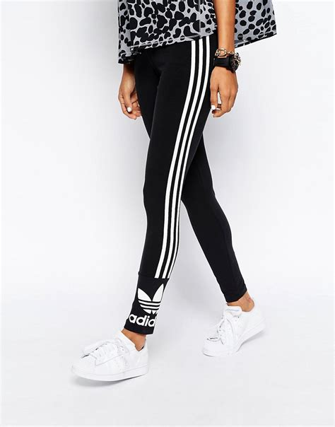 Legging Winter Stripe 3 7 adidas adidas originals 3 stripe at asos