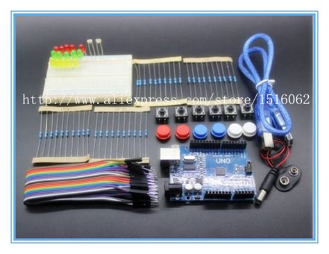 Starter Kit Uno R3 Mini Breadboard Led Jumper Wire Button For Arduino 1 new starter kit uno r3 mini breadboard led jumper wire button for arduino compatile free