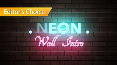 Neon Wall Title Final Cut Pro X Template Cut Pro Template Intro