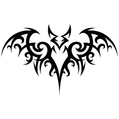 tribal bat tattoos tribal bat inspiration transparent png