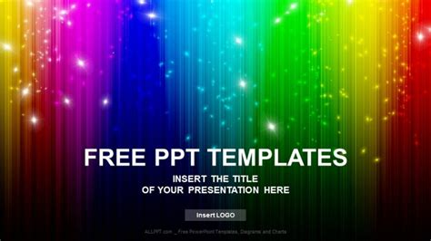 Rainbow Abstract Powerpoint Templates Download Free Powerpoint Rainbow Template