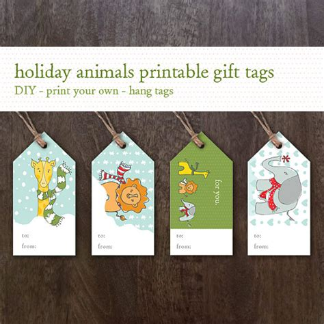 printable elephant gift tags printable holiday gift tags instant download