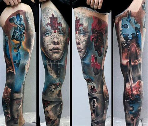 80 3d tattoos for men three dimensional illusion ink