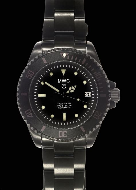 MWC 24 Jewel 300m Automatic Divers Watch on a PVD Bracelet ? MWC (Europe)