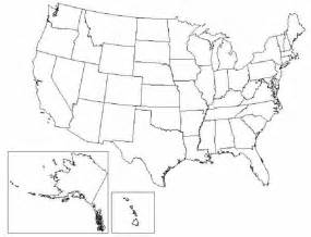 Outline map of united states and mexico