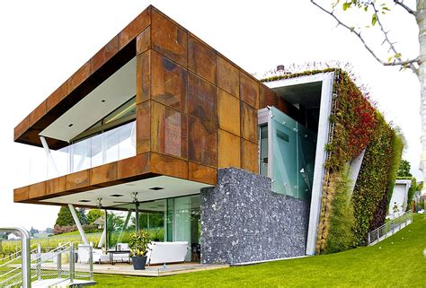 green building house plans box villa takes energy efficient green homes to a hip new level in switzerland eco
