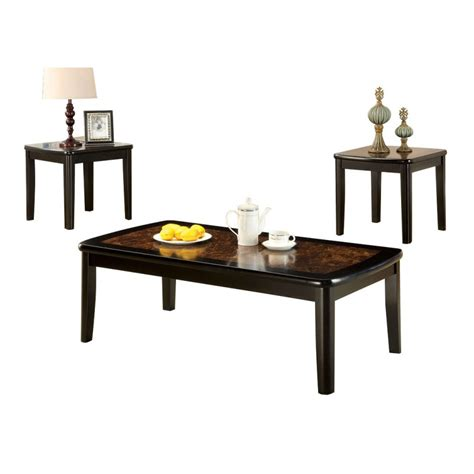 benoit coffee table set with faux marble top home