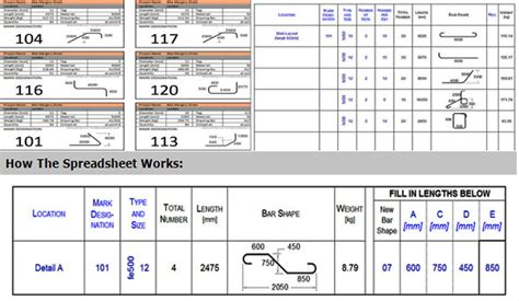 Full Version Bar Bending Schedule 3 1 | bar bending schedule spreadsheet free download