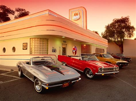 plymouth diner route 66 diner corvette plymouth dodge pontiac oldtimer
