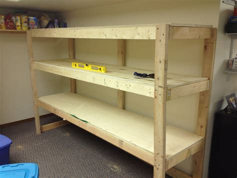 Diy wood garage storage shelves in the corner small garage spaces with carpet tiles ideas