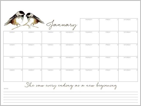 printable january 2015 weekly planner january free desktop calendar and printable monthly planner