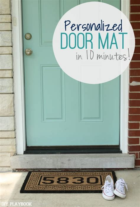 minute diy personalized doormat tutorial diy playbook