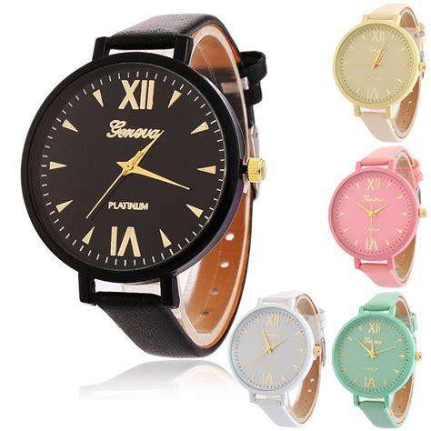 Jam Tangan Korea 44 geneva jam tangan wanita korea fashion leather