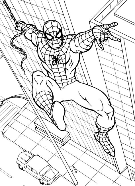 spiderman printable coloring pages coloring home
