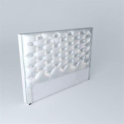 silver headboard 3d model max obj 3ds fbx stl skp