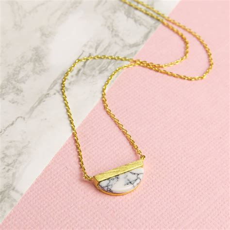 how to make marble jewelry gold marble necklace by emporium notonthehighstreet
