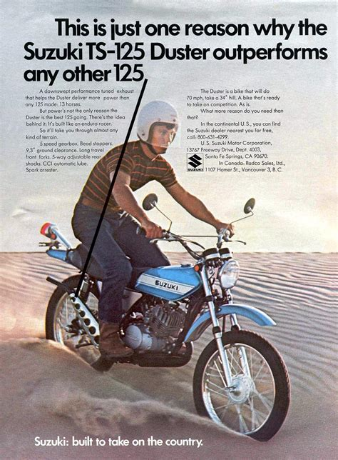 Suzuki Advertisement Suzuki Ts125 Magazine Ads