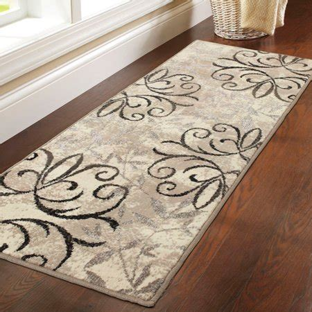 Better Homes And Gardens Iron Fleur Area Rug by Orian Rugs Breezy Parchment Area Or Runner Rug Brickseek
