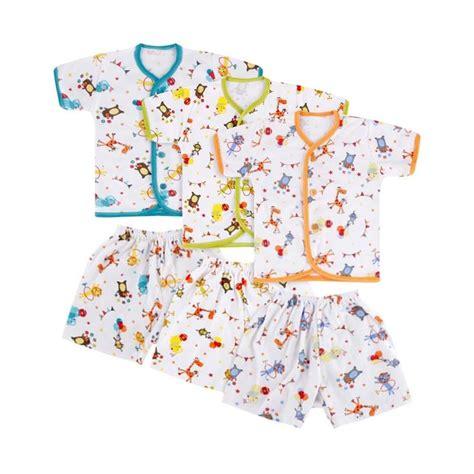 Velvet Junior Topi Bayi Fullprint Isi 3 Pcs jual velvet safari baju celana pendek nb 3 pcs nb multicolor harga kualitas