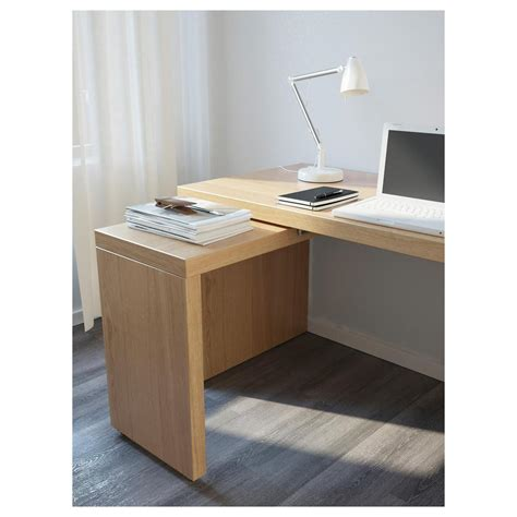 malm scrivania malm scrivania con pannello estraibile impiallacciatura