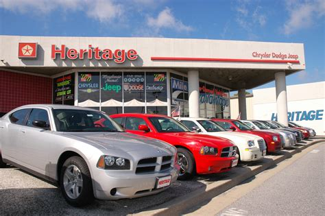 Heritage Chrysler Dodge Jeep mileone heritage chrysler dodge jeep stores in baltimore