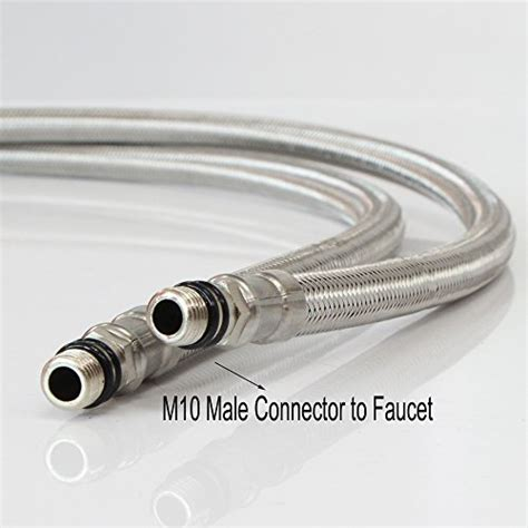 Kitchen Faucet Hoses by Gainwell 3 8 Quot Od 6mm Id Faucet Supply Lines M10 Male